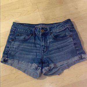 American Eagle Medium Wash Short Shorts